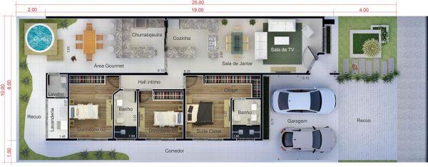 Areadelazer5 for Planos de casas 6x20