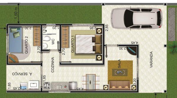 Planta baixa de casas 10 modelos incr veis para inspirar for Mobilia 9 6