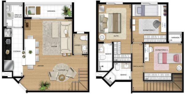 10 Plantas De Casas Duplex Projetos E Modelos Modernos