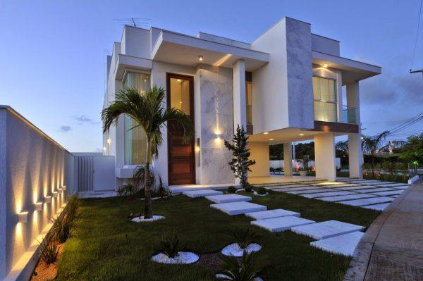 Fachadas casa moderna sobrado modelos linhas retas decor for Casa moderna 2019