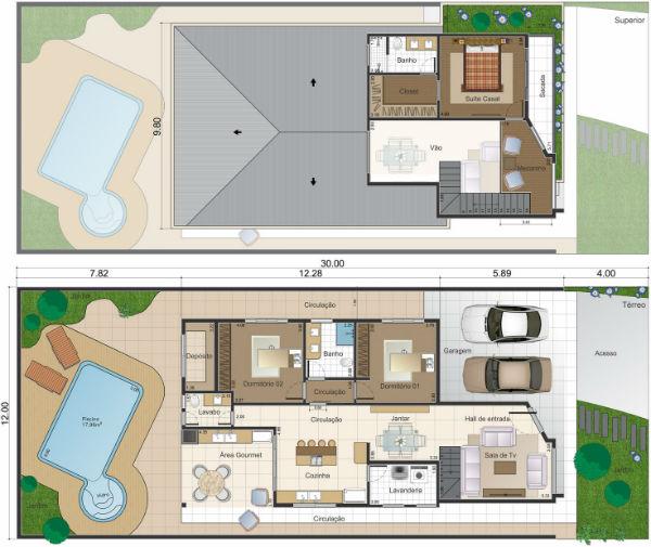 Plantas de casas duplex 5