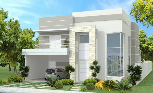10 plantas de casas duplex projetos e modelos modernos for Casas modernas de 70m2