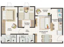 plantas casa 2 quartos