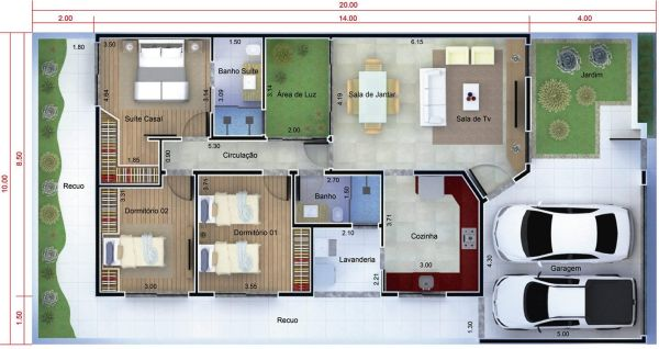 Casa térrea de 3 quartos