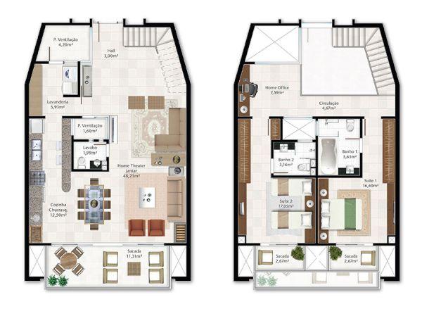casas com 2 suítes