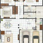 Plantas de casas com 3 quartos e 1 suíte
