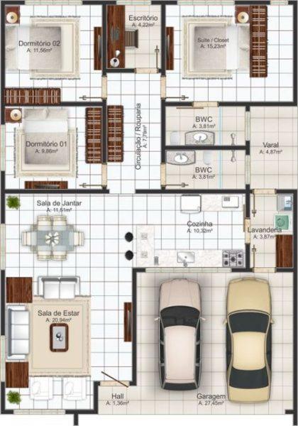 casas com despensa e lavanderia