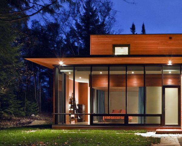 casas com fachada de vidro
