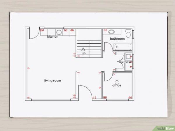 desenho de planta de casa