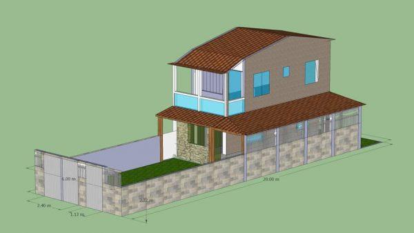 projeto de casa grande em terreno pequeno