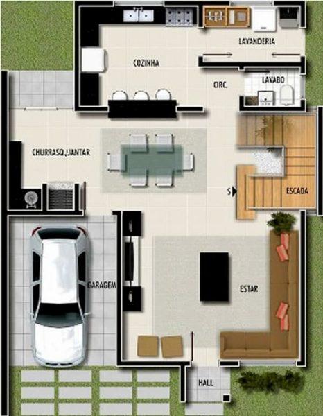 projeto de casa lateral