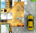 Planta de casa 10x10 com Garagem