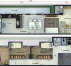 Plantas de Casas 5x25 com Garagem