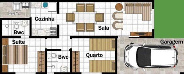 Plantas de Casas Terreno 5x15